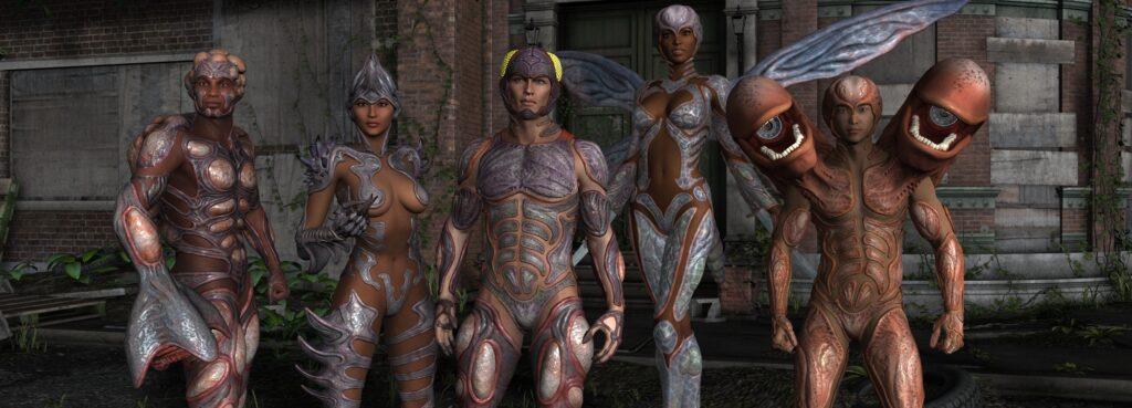 Creeper, Thorn, Biowarrior, Stinger and Spore