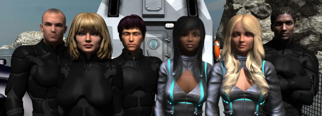 Left to right: Brian Carter, Heidi Karlsen, Seo-Jun Kim, Shanice Campbell, Tara Wilson, Ajay Sackey