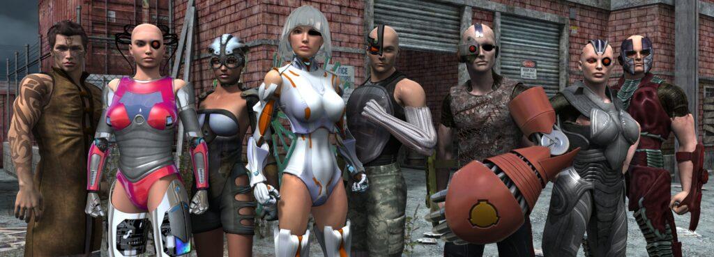 Left-Right: Bullet, Reaper, Skyspy, Lozen, Tank, Strongarm, Frenzy, Berserker